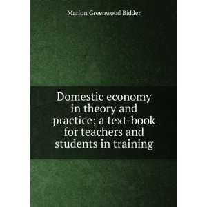 book for Teachers and Students in Training Marion Greenwood Bidder