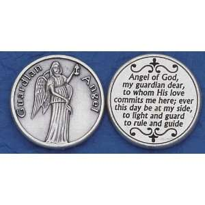 Catholic Coins Guardian Angel with Prayer Home & Kitchen