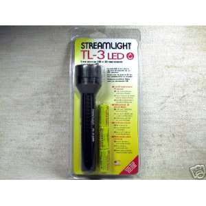 Tactical Light, White LED, 3 Lithium Batteries, Green Body