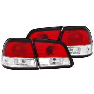 97 99 Nissan Maxima Red/Clear Tail Lights Automotive