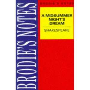 Brodies Notes Midsummer Nights Dream (9780333581759) T W