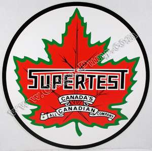 SUPERTEST CANADAS CANADIAN GASOLINE 12 VINYL GAS & OIL PUMP DECAL DC