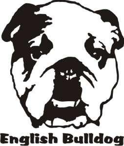 English Bulldog Dog Decal Sticker   Car Truck Laptop