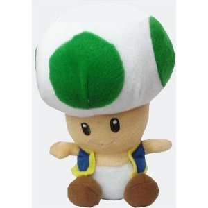 Super Mario Brothers Green Toad 12 Inch Plush Toys