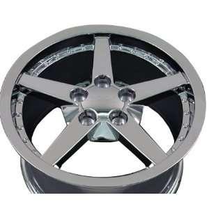 C6 Deep Dish Wheel with Rivets Fits Corvette   Chrome 17x9
