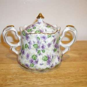 Lefton China Hand Painted Sugar Bowl