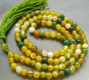 Tibet Buddhist 108 Jade Beads Prayer Mala Necklace
