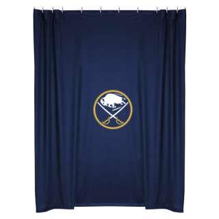 NEW BUFFALO SABRES NHL Logo Fabric Shower Curtain