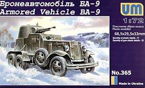 72 BA 9 Armored Vehicle UM MODEL KIT 365