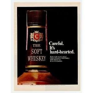 1969 Calvert Whiskey Hard Hearted Print Ad (6367)