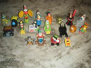 Lot Vintage McDonald Burger King HAPPY MEAL Kids Toys various items