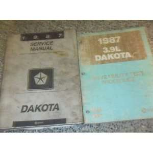 Dakota 3.9L 3.9 TRUCK Service Repair Shop Manual SET FACTORY BOOK