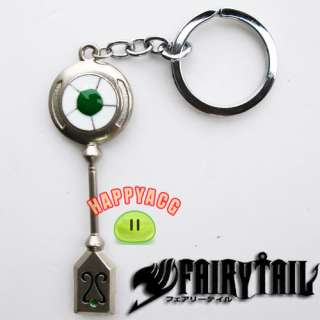 New Rare Cosplay Fairy Tails Lucy Caelum Key Keychain Silver Colour 3