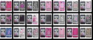 Pink Rhinestone Bling Hard Case Cover HTC Thunderbolt ADR6400