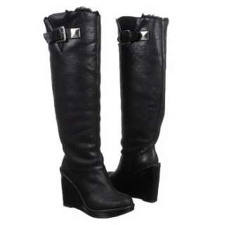 NEW WITH BOX MICHAEL KORS CALISTA BOOT BLACK SUEDE SIZE 7 FAUX FUR $