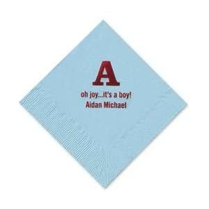 Personalized Stationery   Alphabet Foil stamped Napkins