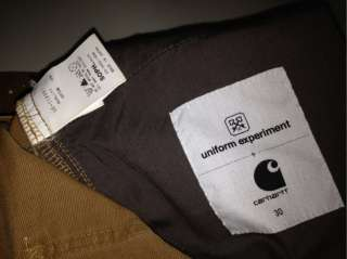 CARHARTT x UNIFORM EXPERIMENT W30 W32 FENOM SUPREME KATE CLOT WTAPS