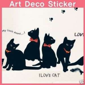 KR 0015 Cat Family WALL ART DECOR STICKER **FreeShip