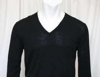 PRADA Mens Classic Black V Neck Sweater Shirt 38/48 |