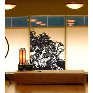 Vinyl Wall Decal Sticker Chinese Village on Cliff