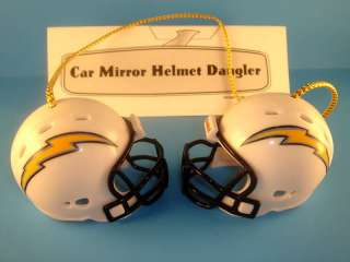 CAR MIRROR FOOTBALL HELMET DANGLER SAN DIEGO CHARGERS