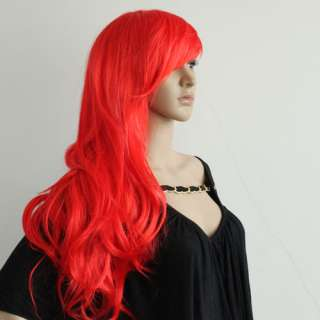 New Stylish woman long Wavy Curly Hair Red Wig/Wigs +cap