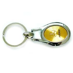 Benz Oval Key Chain Gold