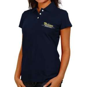 Michigan Wolverines Ladies Navy Blue Ivy League Polo