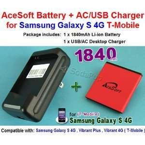 1840mAh High Quality AceSoft Battery + Travel Dock USB