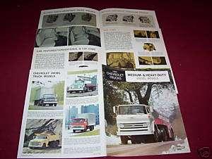 ORIGINAL 1965 CHEVROLET MEDIUM & HEAVY DIESEL TRUCK BROCHURE, SALES