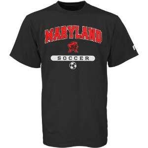 Russell Maryland Terrapins Black Soccer T shirt Sports