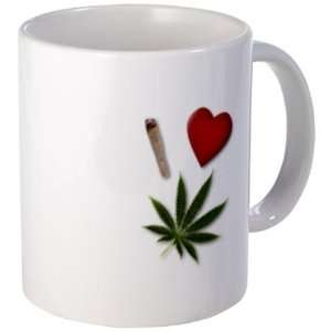 I HEART WEED 420 Marijuana Pot Leaf Joint 11oz Ceramic