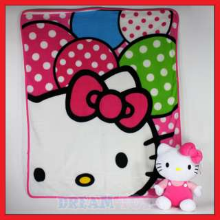 Sanrio Hello Kitty 50 Soft Fleece Blanket with 14 Plush Doll PINK