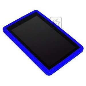 Case Star ® Blue silicone soft protection case/cover/skin