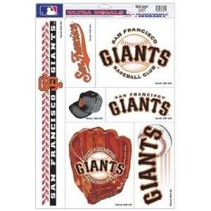 San Francisco Giants Static Cling Decal Sheet