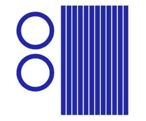 Circles & stripes Cornhole Game Decals ROYAL BLUE