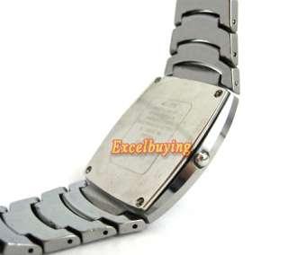 Mens Fashion Silver Tungsten Steel Quartz Watch 6231S