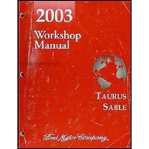 2003 Ford Taurus & Mercury Sable Repair Shop Manual