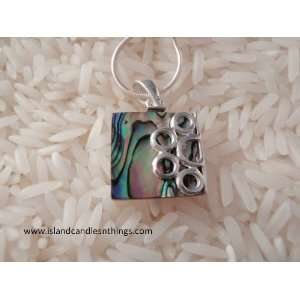 Sterling Silver Abalone Pendant Jewelry