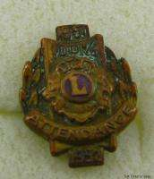 LIONS CLUB INTERNATIONAL   100% Attendance 1951 52 PIN