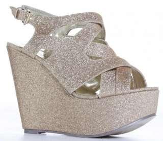 Ladies High Heels Wedges Womens Gold Silver Red Black Wedge Sandals