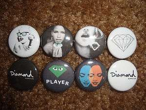 DIAMOND SUPPLY CO Buttons Pins Badges Hundreds Supreme Shirt Hat