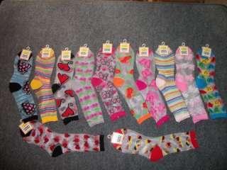 sheer see through crew socks colorful designs 12 pair