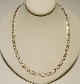 New 14k Solid Gold Tri Color Hearts 18 Chain Free Ship