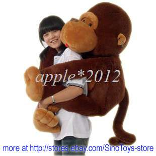 43GIANT HUGE BIG STUFFED ANIMAL SOFT MONKEY TOYS 110CM