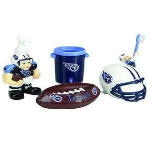 Titans 5 Piece Team Bathroom Set   NFL Football: Sports & Outdoors