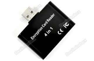 Disk SD Card 4 in 1 Mini Encryption Card Reader Black New