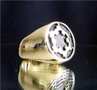 BRONZE RING STAR WARS IMPERIAL COAT of ARMS DEATH STAR
