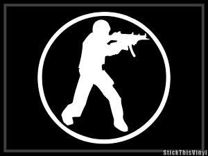 Counter Strike Logo Half Life Game Decal Sticker (2x)