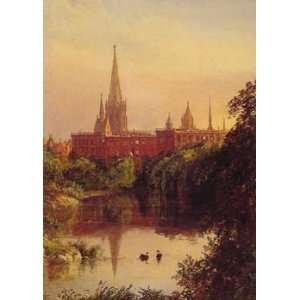 12X16 inch Cropsey Jasper A View in Central Park 1880